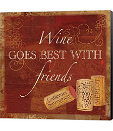 Wine Cork Sentiment I by Cynthia Coulter Canvas Art