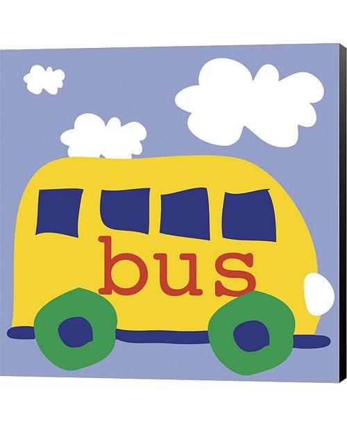 Metaverse Yellow School Bus by Erin Clark Canvas Art