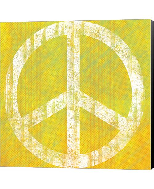 Metaverse Yellow Peace by Louise Carey Canvas Art