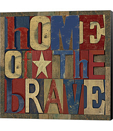 Patriotic Printer Block I by Tara Reed Canvas Art