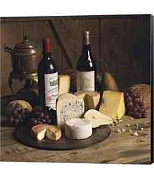 Wine And Cheese 1 by Michael Harrison Canvas Art