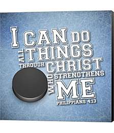 I Can Do All Sports - Hockey by Scott Orr Canvas Art