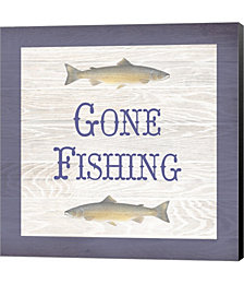 Gone Fishing Salmon by Alan Blaustein Canvas Art