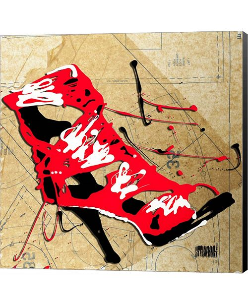 Metaverse Red Strap Boot by Roderick E. Stevens Canvas Art