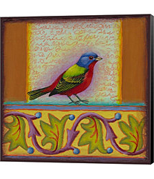 Painted Bunting by Rachel Paxton Canvas Art