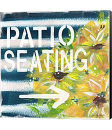 Patio Seating by Linda Woods Canvas Art