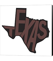 Texas Letters by Art Licensing Studio Canvas Art