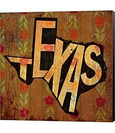 Texas on Pattern by Art Licensing Studio Canvas Art