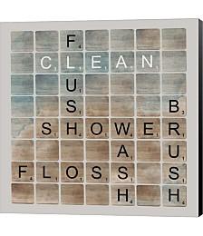 Bathroom Letters II by Longfellow Designs Canvas Art