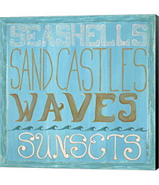 Seashells & Sand Castles by Shanni Welsh Canvas Art