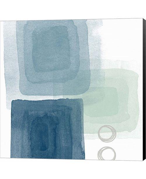 Metaverse Watercolor Blocks III by Linda Woods Canvas Art