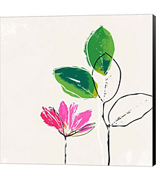 Spring Flower by Linda Woods Canvas Art