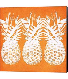 Orange Pineapples by Linda Woods Canvas Art