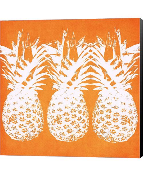 Metaverse Orange Pineapples by Linda Woods Canvas Art