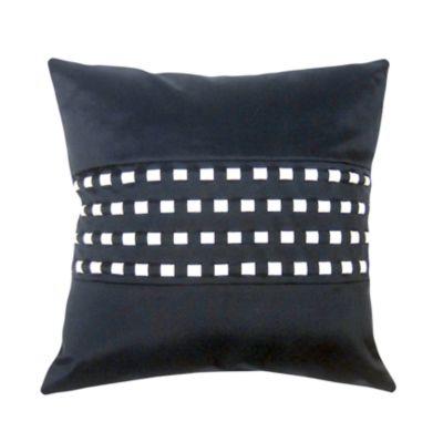 Woven Cord Outdoor Pillow, Navy 18X18