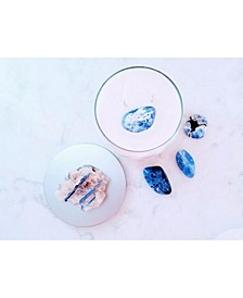 Vision Candle with Kyanite and Sodalite Crystal: Juniper, Lemon & Basil Essential Oils