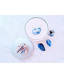 Vision: Natural Juniper Essential Oil Soy Candle W/ Kyanite and Sodalite Gemstone