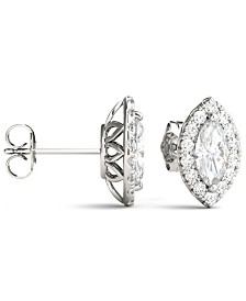 Moissanite Marquise Halo Earrings (1-3/8 ct. tw. Diamond Equivalent) in 14k White Gold
