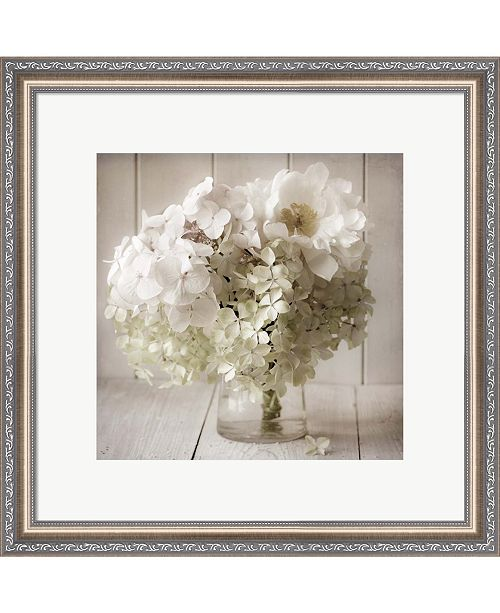 Metaverse White Flower Vase by Symposium Design Framed Art