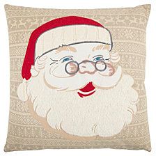 "Rizzy Home 20"" X 20"" Santa Clause Poly Filled Pillow"