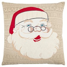 """Rizzy Home 20"""" x 20"""" Santa Clause Poly Filled Pillow"""