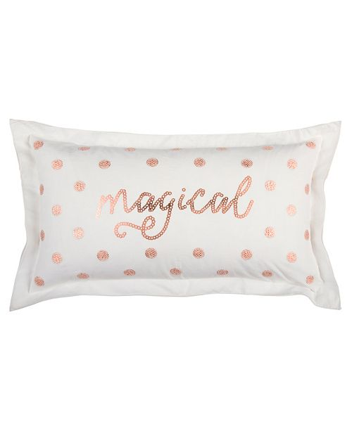 "Rizzy Home 14"" x 26"" Typography Poly Filled Pillow"