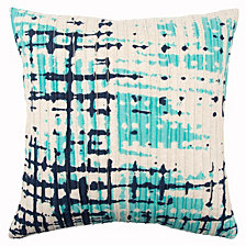 """Rizzy Home 20"""" x 20"""" Abstract Design Pillow Poly Filled"""
