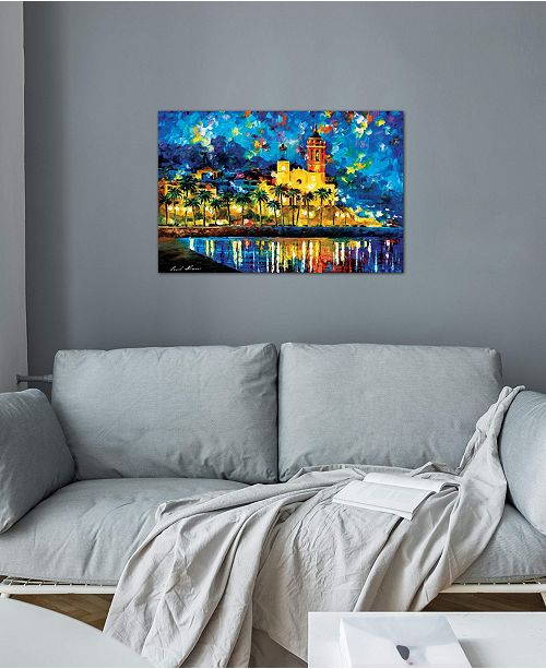 """iCanvas """"Spain, Sitges"""" by Leonid Afremov Gallery-Wrapped Canvas Print"""