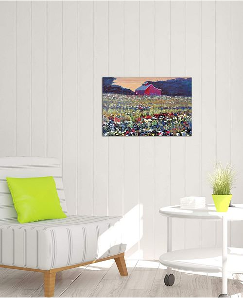 "iCanvas ""Red Barn And Flowers"" by Kip Decker Gallery-Wrapped Canvas Print"