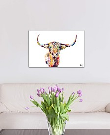 """iCanvas """"Highland Cow"""" by Becksy Gallery-Wrapped Canvas Print"""