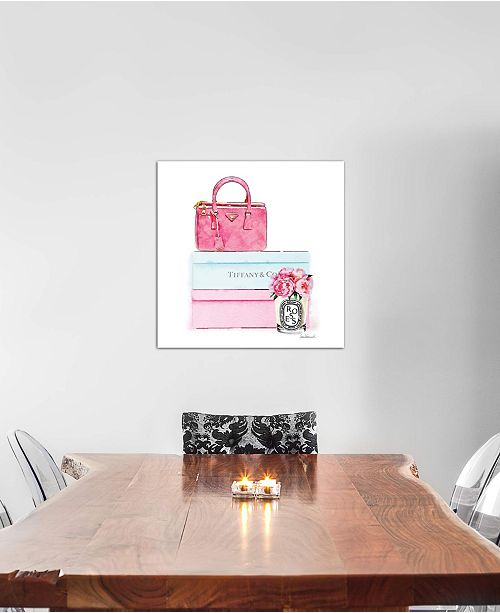 "iCanvas ""Fashion Shoe Boxes And Peonies"" by Amanda Greenwood Gallery-Wrapped Canvas Print"