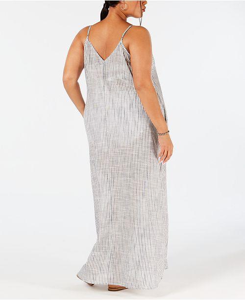 2657021d11de0 Raviya Plus Size Cotton Printed Maxi Dress Cover-Up   Reviews ...
