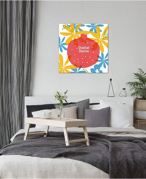 "iCanvas ""Shabbat Shalom Pom"" by Linda Woods Gallery-Wrapped Canvas Print"