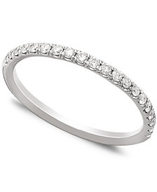 Pave Diamond Band Ring in 14k Gold, Rose Gold or White Gold (1/4 ct. t.w.)