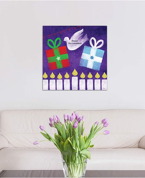 "iCanvas ""Happy Chrismukkah"" by Linda Woods Gallery-Wrapped Canvas Print"