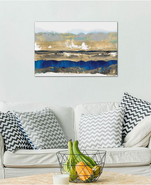 "iCanvas ""Strata In Blue & Gold"" by Rachel Springer Gallery-Wrapped Canvas Print (18 x 26 x 0.75)"