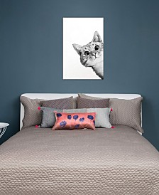 "iCanvas ""Sneaky Cat"" by Laura Graves Gallery-Wrapped Canvas Print (26 x 18 x 0.75)"