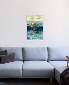 """iCanvas """"Teal & Gold Scape"""" by Julian Spencer Gallery-Wrapped Canvas Print (26 x 18 x 0.75)"""