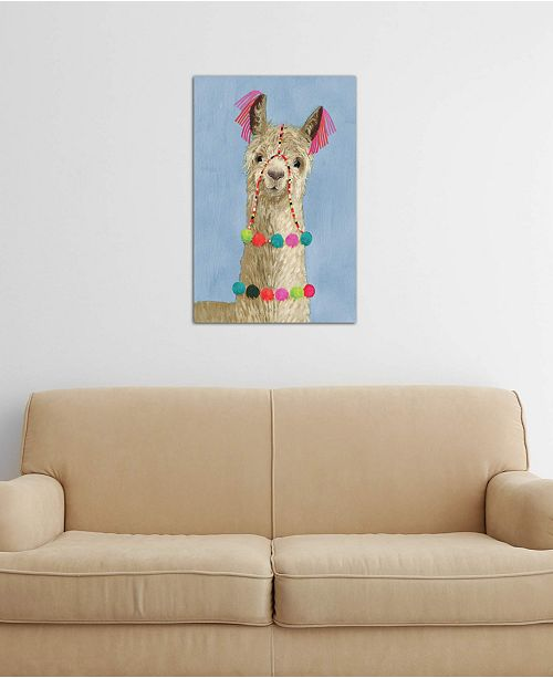"""iCanvas """"Adorned Llama III"""" by Victoria Borges Gallery-Wrapped Canvas Print (40 x 26 x 0.75)"""