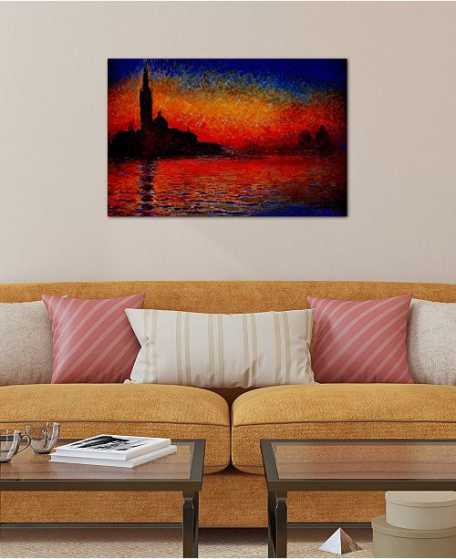 """iCanvas """"Sunset in Venice"""" by Claude Monet Gallery-Wrapped Canvas Print (18 x 26 x 0.75)"""