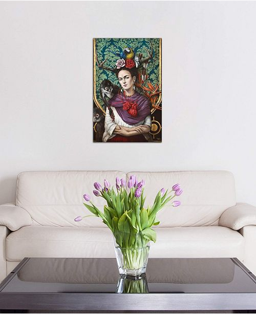 "iCanvas ""Hommage a Frida (A Tribute To Frida) I"" by Sophie Wilkins Gallery-Wrapped Canvas Print"