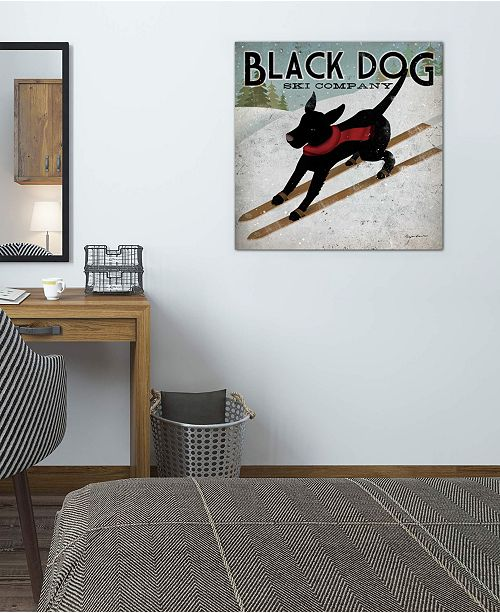 "iCanvas ""Black Dog Ski Co. II"" by Ryan Fowler Gallery-Wrapped Canvas Print (26 x 26 x 0.75)"