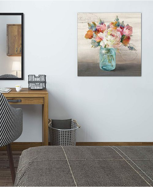 """iCanvas """"French Cottage Bouquet II"""" by Danhui Nai Gallery-Wrapped Canvas Print (26 x 26 x 0.75)"""