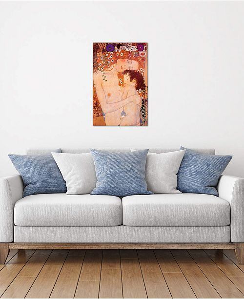 """iCanvas """"Mother And Child"""" by Gustav Klimt Gallery-Wrapped Canvas Print (26 x 18 x 0.75)"""