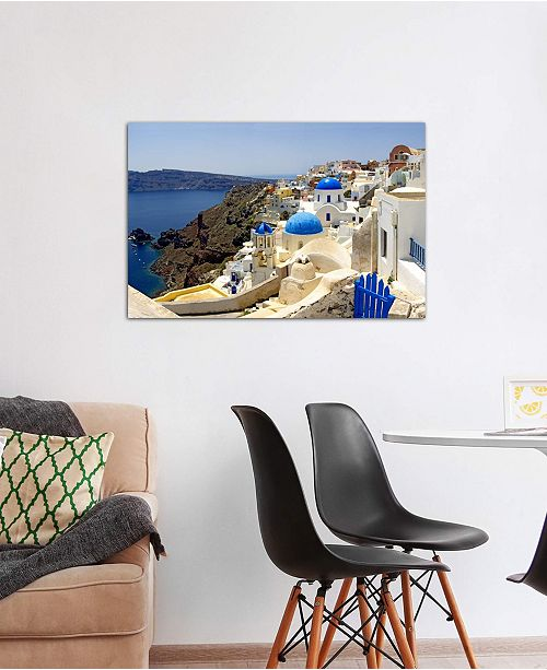 """iCanvas """"High angle view of a church, Oia, Santorini, Cyclades Islands, Greece"""" by Panoramic Images Gallery-Wrapped Canvas Print (26 x 40 x 0.75)"""