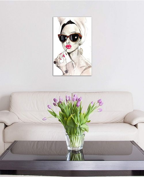 """iCanvas """"Audrey Hepburn"""" by Rongrong DeVoe Gallery-Wrapped Canvas Print (26 x 18 x 0.75)"""