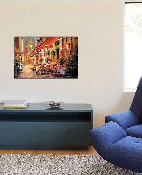 "iCanvas ""Café in Light"" by Haixia Liu Gallery-Wrapped Canvas Print (18 x 26 x 0.75)"