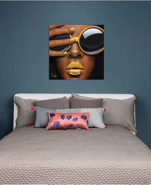 "iCanvas ""Goldilips"" by Scott Rohlfs Gallery-Wrapped Canvas Print (18 x 18 x 0.75)"