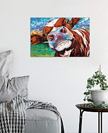 "iCanvas ""Curious Cow I"" by Carolee Vitaletti Gallery-Wrapped Canvas Print (18 x 26 x 0.75)"