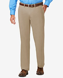 J.M. Men's Luxury Comfort Classic-Fit Performance Stretch Casual Pants